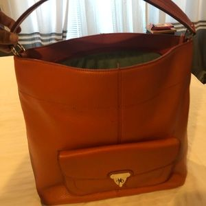 Banana republic shoulder orange bag never used